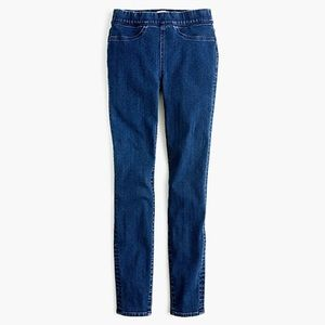 J Crew pull on toothpick jean in classic rinse NWT